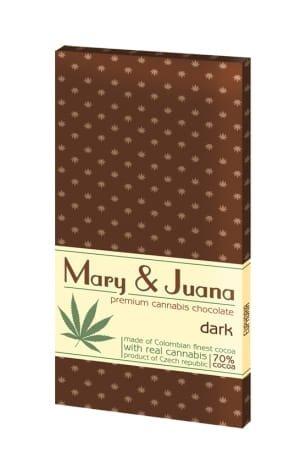 Czekolada gorzka Mary & Juana z łuskanym ziarnem konopi 80g