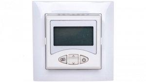 Sentia Regulator temperatury z wyświetlaczem LCD i sensorem 5-55st biały 1465-00