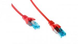 Kabel krosowy (Patch Cord) U/UTP kat.5e czerwony 2m DK-1512-020/R
