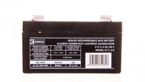 Akumulator ołowiowy AGM 6V 1,3Ah F4,7 B9651