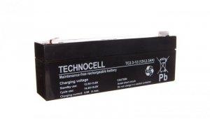Akumulator bezobsługowy AGM 2,3Ah 12V Technocell 2,3TC