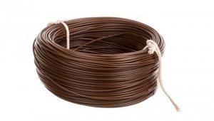 Przewód instalacyjny H05V-K (LgY) 0,75 brązowy /100m/