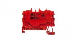 Złączka szynowa 2-przewodowa 1,0mm2 czerwona 2000-1203 TOPJOBS