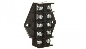 Płytka odgałęźna ZPT5 /4.0mm2/ 5-torów czarna ZPT5-4.0 83004007