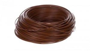 Przewód instalacyjny H05V-K 0,75 brązowy 29100 /100m/