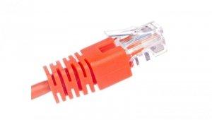 Kabel krosowy patchcord U/UTP kat.5E pomarańczowy 0,5m