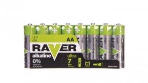 Bateria alkaliczna LR6 / AA 1,5V RAVER ULTRA B79218 /opakowanie 8szt./
