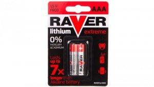 Bateria litowa LR03 / AAA 1,5V RAVER EXTREME B7811 /blister 2szt./