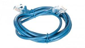 Kabel krosowy patchcord U/UTP kat.5e CCA niebieski 2m 68355