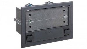 Simon Connect Puszka SF podłogowa pojedyncza 2xK45 + SM102/9 szara SF110/1
