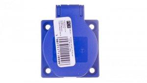Gniazdo tablicowe 10/16A 2P+Z SCHUKO 230V niebieskie IP44 1050-0b