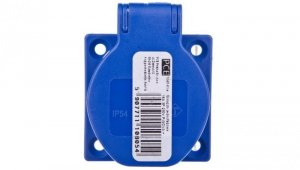 Gniazdo tablicowe 10/16A 2P+Z 230V niebieskie IP54 1040-0bs