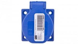 Gniazdo tablicowe 10/16A 2P+Z 230V niebieskie IP44 1050-0bs schuko