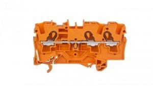 Złączka szynowa 3-przewodowa 4mm2 pomarańczowa 2004-1302 TOPJOBS