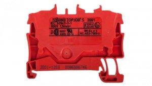 Złączka szynowa 2-przewodowa 1,5mm2 czerwona 2001-1203 TOPJOBS