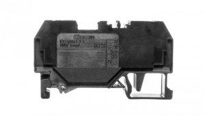 Złączka szynowa 2-przewodowa 4mm2 czarna 281-905
