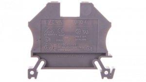 Złączka szynowa 2-przewodowa 4mm2 szara EURO 43409