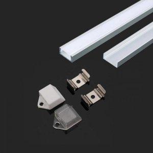 Profil Aluminiowy V-TAC 2mb Anodowany, Klosz Mleczny VT-9327 5 Lat Gwarancji