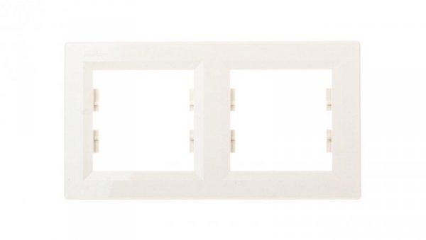 ASFORA Ramka podwójna pozioma kremowa EPH5800223