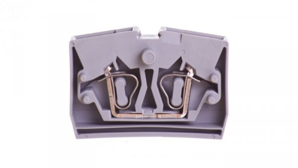 Złączka 2-przewodowa 2,5mm2 z mocowaniem śrubowym szara 264-301