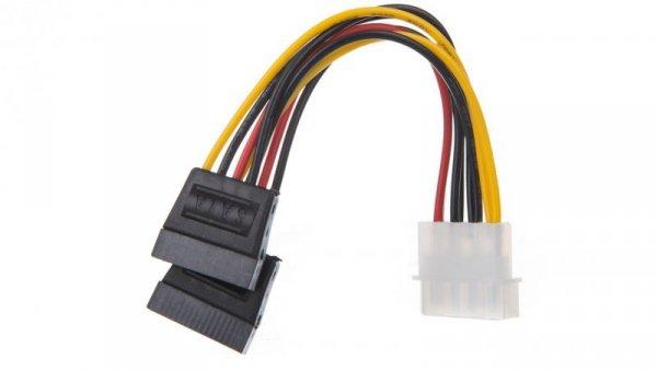 Kabel SATA zasilający MOLEX (M) - S-ATA (F) x2 13cm 68524