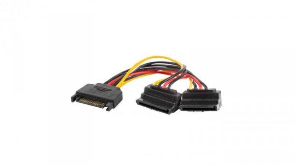 Kabel SATA zasilający (M)->SATA(F) 90'' x2 15cm CA-SASA-10CU-0015