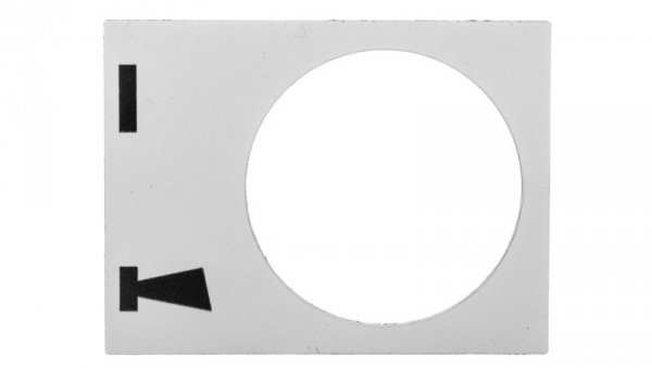 Tabliczka opisowa biała prostokątna 30x40mm START-KLAKSON ZB2BY4935