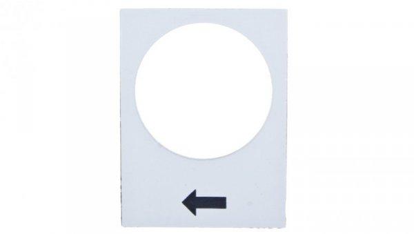 Tabliczka opisowa biała prostokątna 30x40mm PODNOSZENIE WOLNO  ZB2BY4901