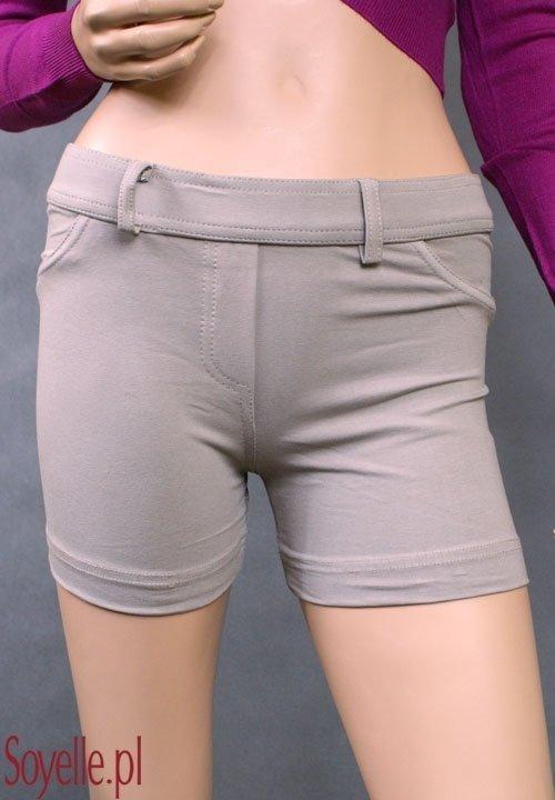 ZA-RA szorty elastyczne beżowe