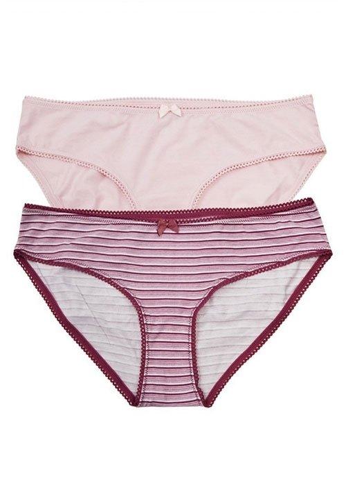 REZA 01 klasyczne majtki z bawełny i elastanu, różowe