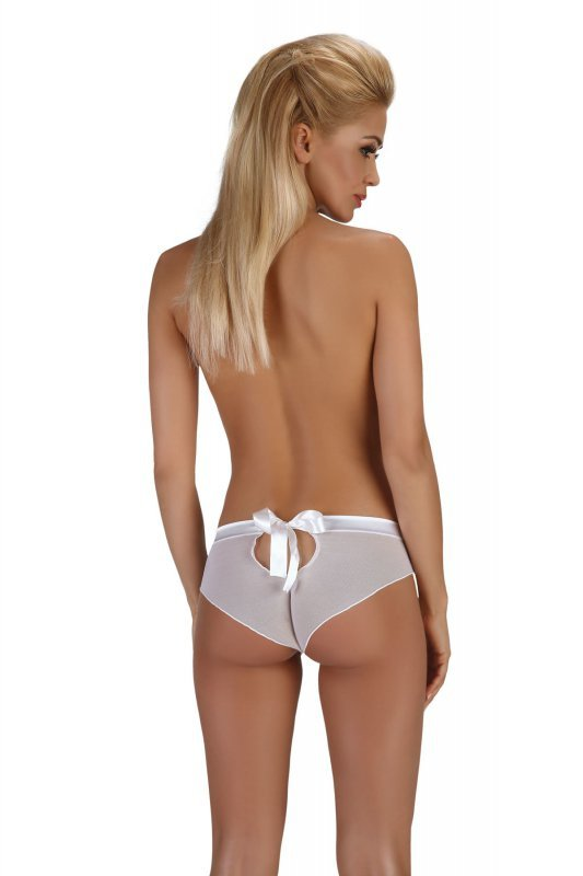 MALVINE białe majtki z tiulu