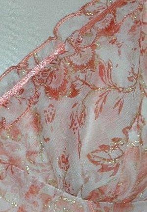 MIRAN 460 Jedwabna koszulka w letnich kolorach, pomarańcze, rudości
