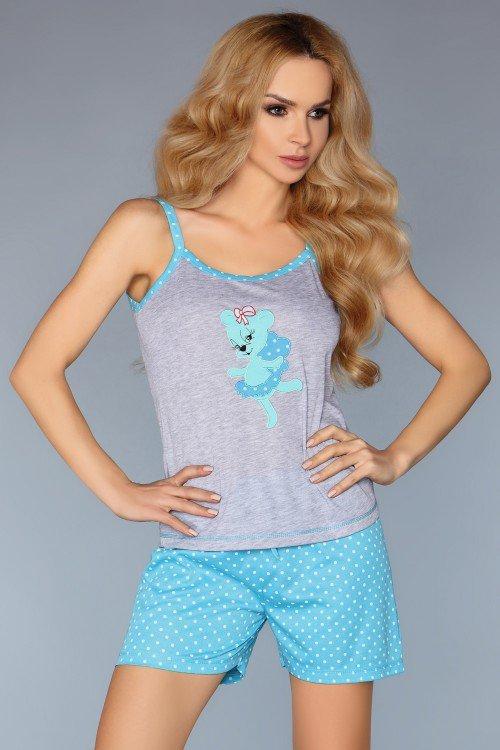MODEL 723/1 piżama rozmiar M - TURQUOISE