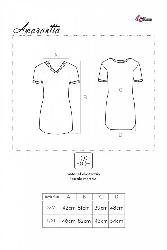 Amarantta koszulka nocna z wiskozy L/XL