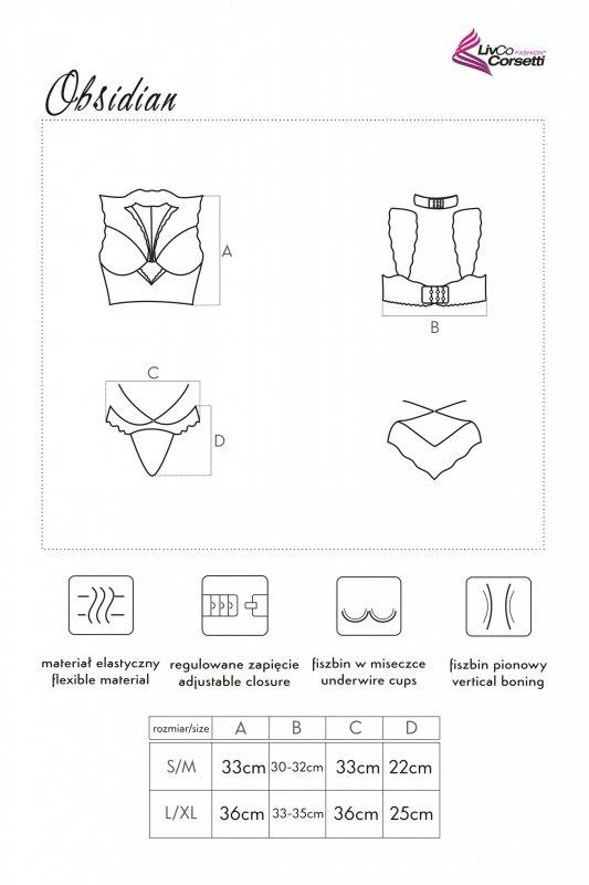 OBSIDIAN zestaw koronkowej bielizny L/XL