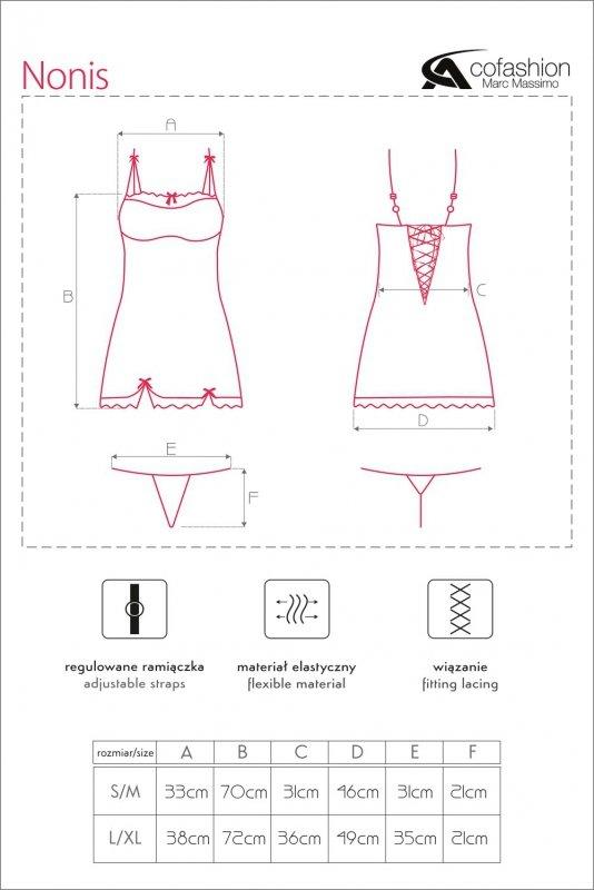 NONIS tiulowa koszulka z koronką i gorsetowym wiązaniem L/XL