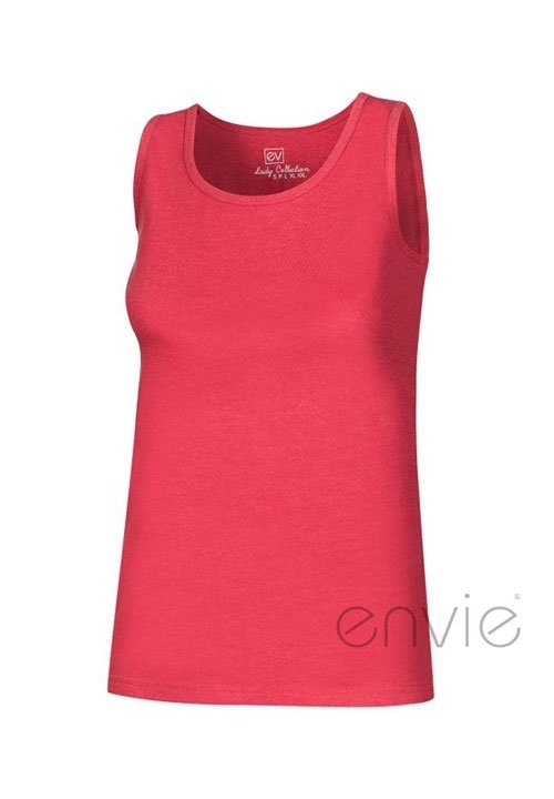SINGLET COTTON 100% COLOUR bawełniana koszulka na szerokich ramiączkach, kolory