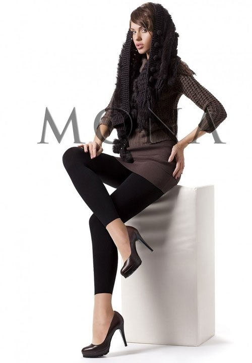 COTTON 350 bawełniane legginsy, czarne