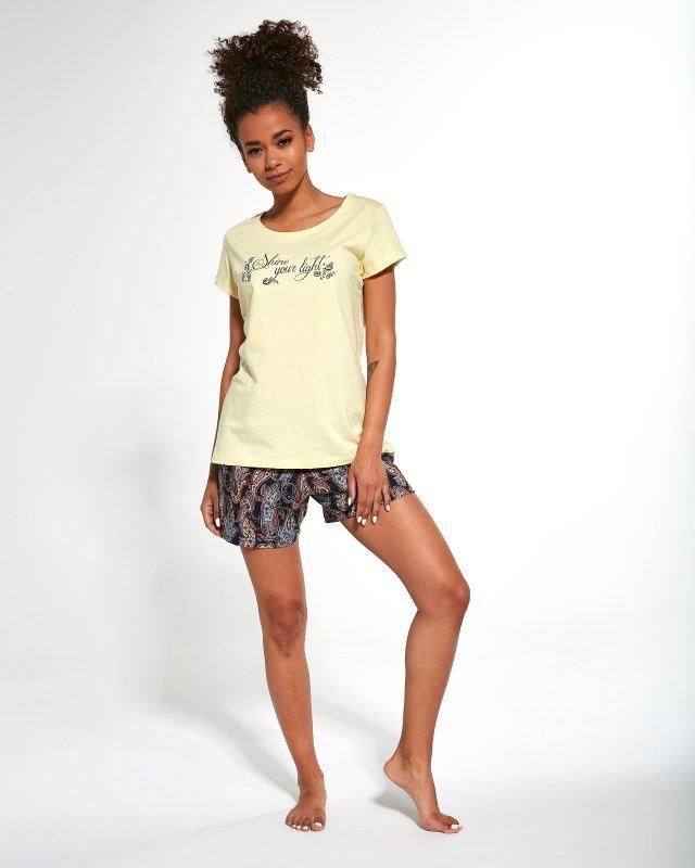 Piżama Cornette 665/245 Shine kr/r S-2XL Trzyczęściowa