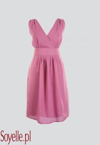 DAFNE 2 zwiewna sukienka, pudrowy róż