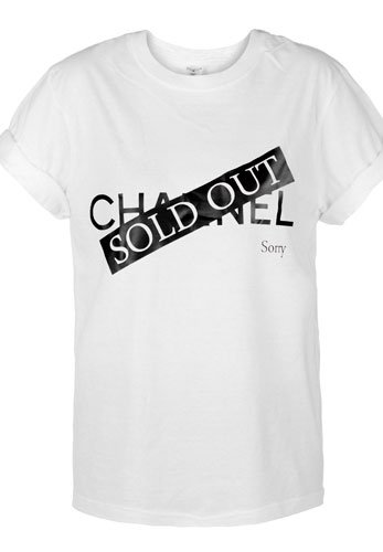 SOLD OUT T-shirt oversize, biały
