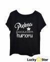 Koszulka Damska Piękna z poczuciem humoru