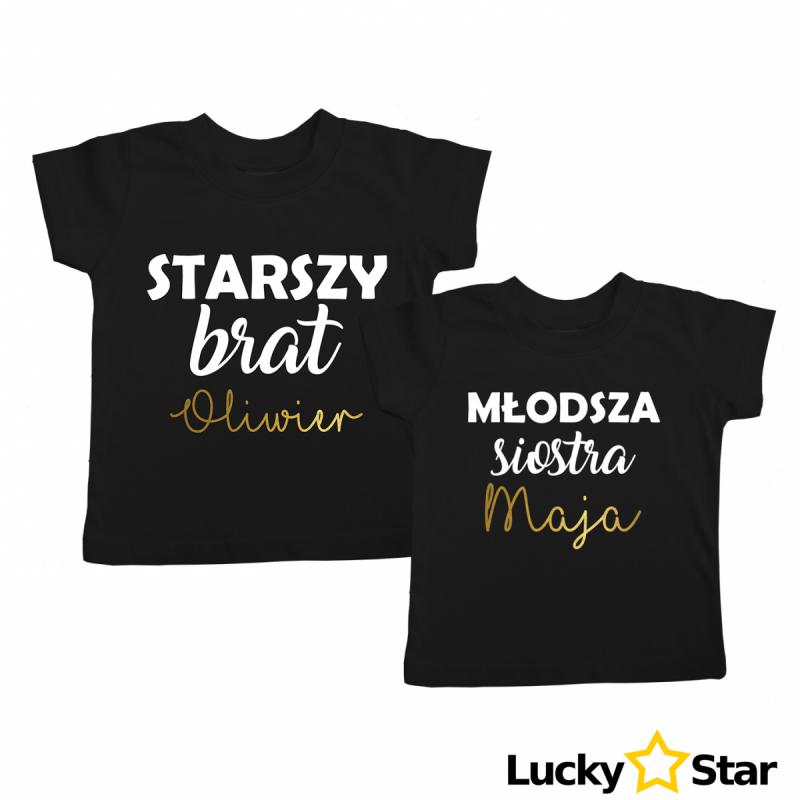 Koszulki dla rodzeństwa + wybrane imiona