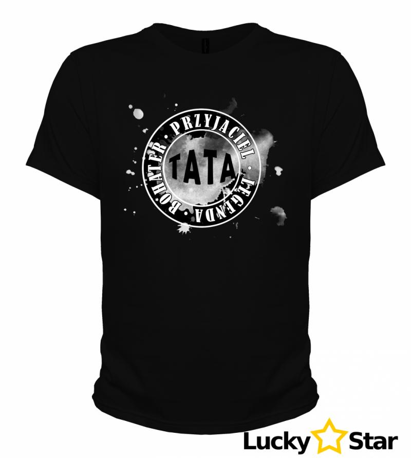 Koszulka męska TATA Przyjaciel - Bohater - Legenda