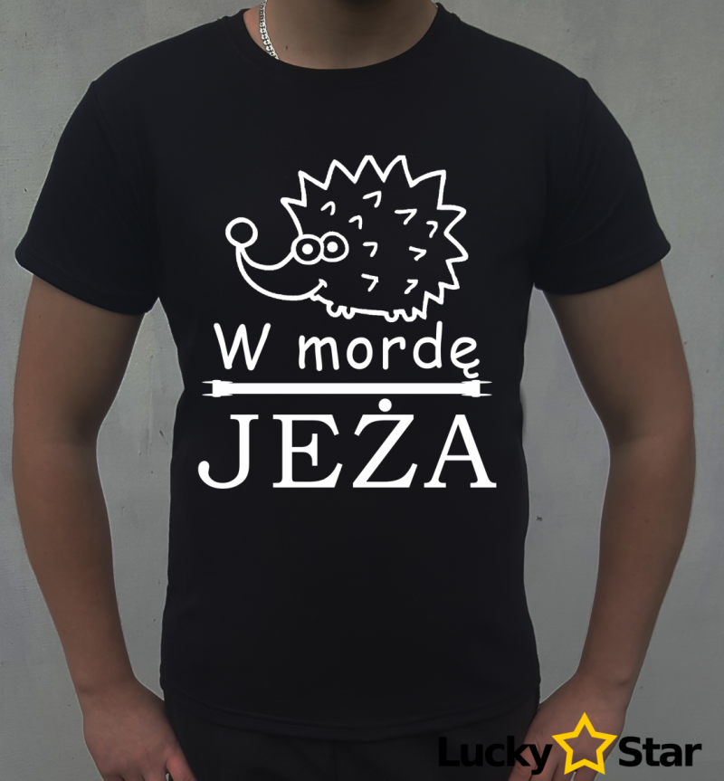 Koszulka Męska w mordę JEŻA