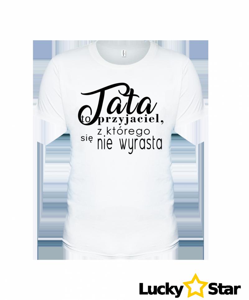 Koszulka Męska Tata to przyjaciel, z którego się nie wyrasta.