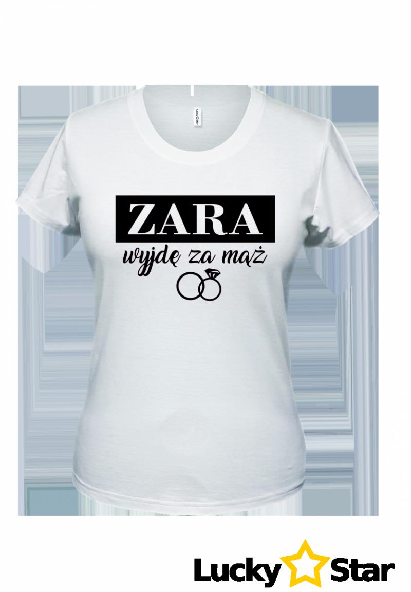 Koszulki dla Par ZARA wyjdę za mąż, ZARA będę żonaty