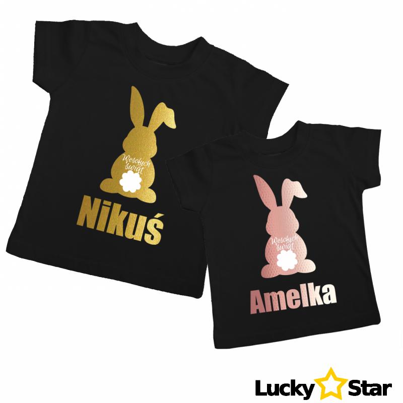 Koszulka Królik Wielkanocny + wybrane imię
