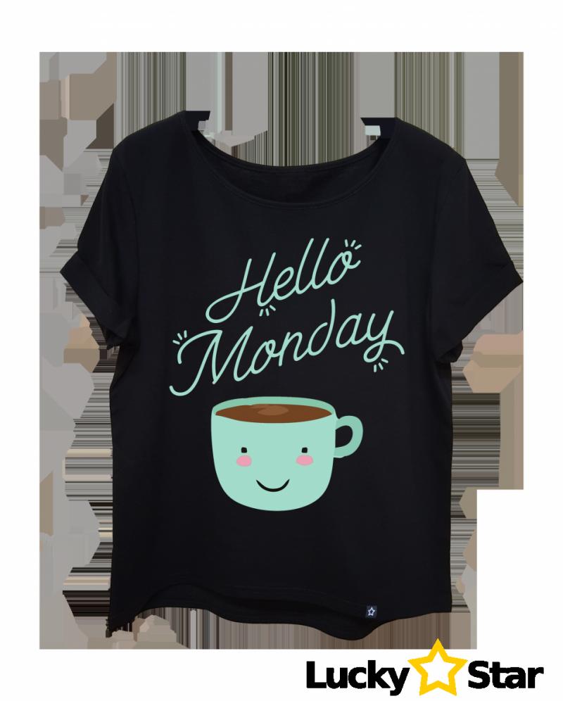 Koszulka Damska oversize Hello Monday !!!