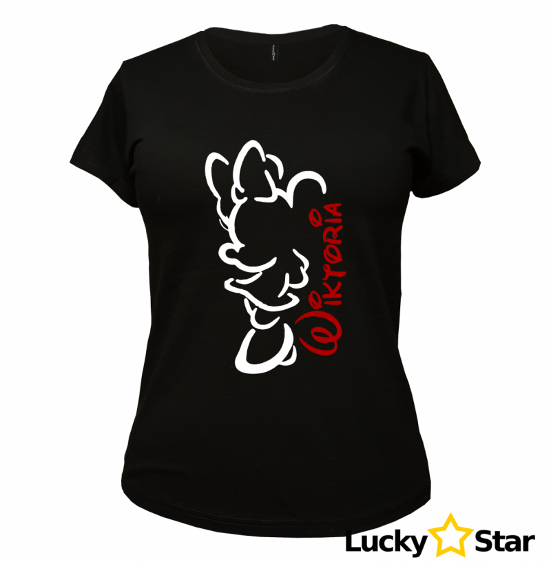 Zestaw koszulek dla par Myszki Wasze imiona